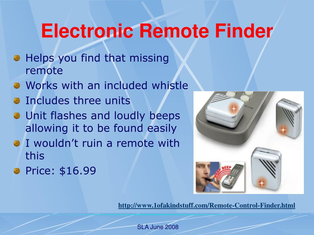 Electronic Remote Finder