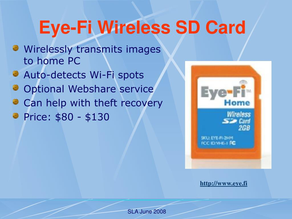 Wirelessly transmits images to home PC