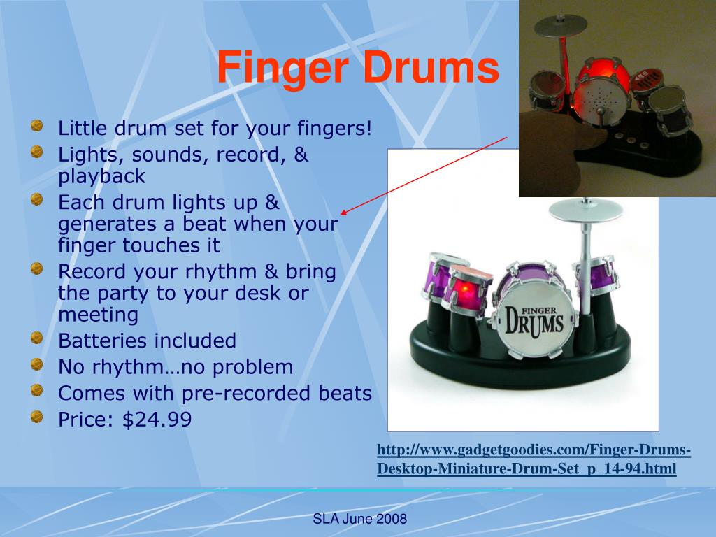 Little drum set for your fingers!