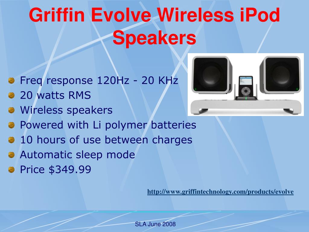Griffin Evolve Wireless iPod Speakers