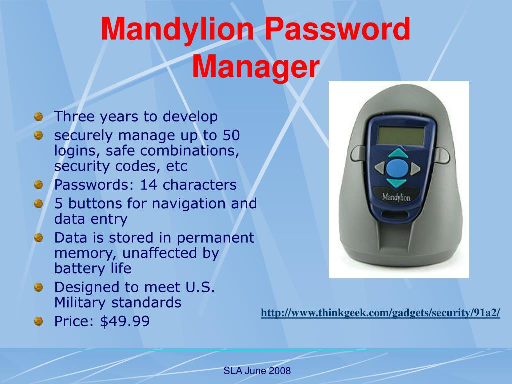 Mandylion Password Manager