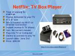 netflix tv box player