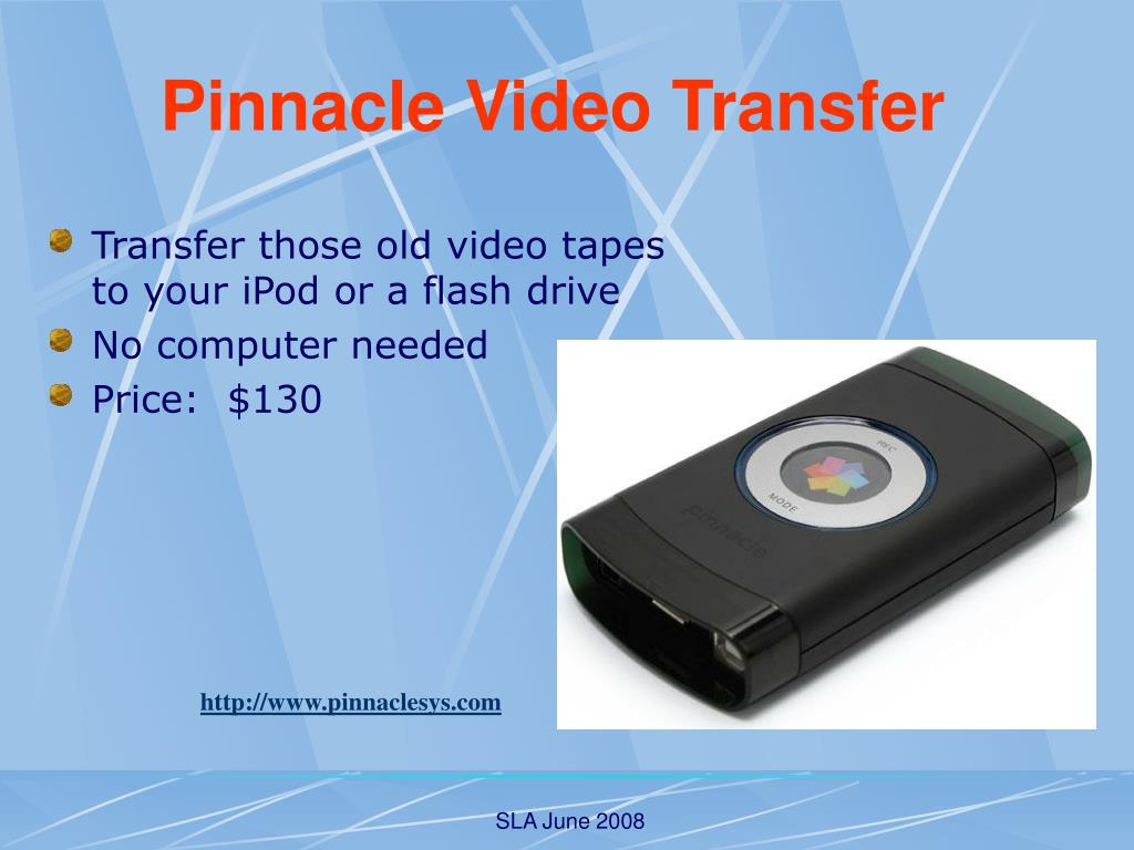 Transfer those old video tapes to your iPod or a flash drive