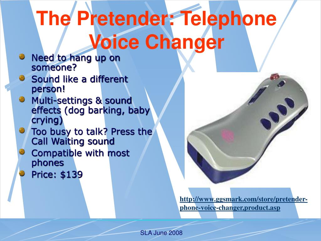 The Pretender: Telephone Voice Changer
