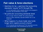 fair value forex elections