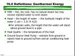 16 0 definitions geothermal energy