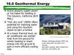 16 0 geothermal energy