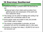 16 overview geothermal