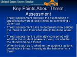 key points about threat assessment