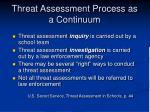threat assessment process as a continuum