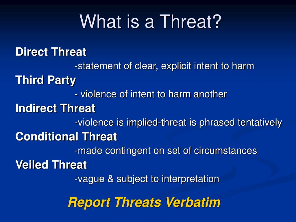 Ppt Threat Assessment And Threat Management In The Schools Threat Assessment Workgroup Powerpoint Presentation Id 354301