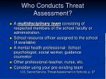 who conducts threat assessment