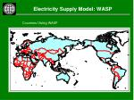 electricity supply model wasp16