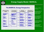 energy supply model markal13