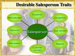 desirable salesperson traits