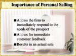 importance of personal selling