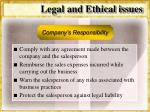 legal and ethical issues53