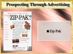 prospecting through advertising
