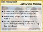 sales force training