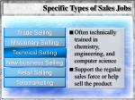 specific types of sales jobs58