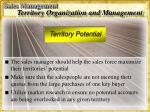 territory organization and management49