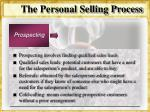 the personal selling process21