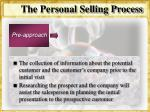 the personal selling process24