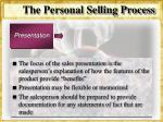 the personal selling process32