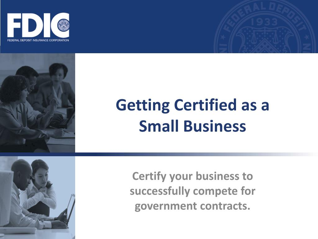 getting certified as a small business l.