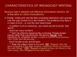 characteristics of broadcast writing44