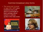 common broadcast story forms56
