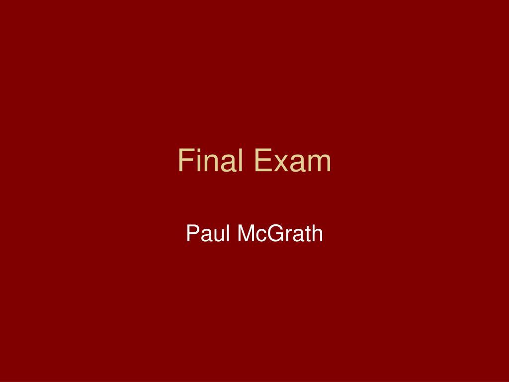 final exam l.
