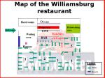 map of the williamsburg restaurant