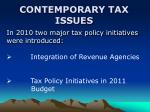 contemporary tax issues