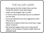 the killer liger1