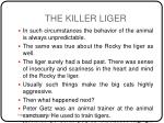 the killer liger3