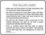 the killer liger5