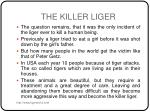 the killer liger6