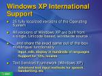 windows xp international support