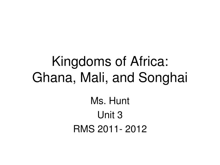 kingdoms of africa ghana mali and songhai n.