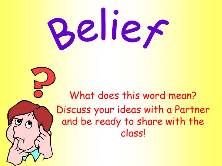 What does this word mean discuss your ideas with a partner and be ready to share with the class