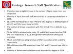 findings research staff qualification1