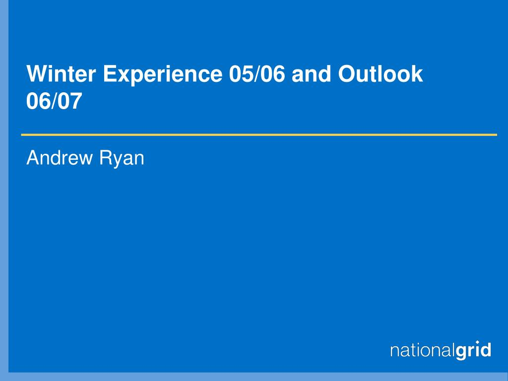 winter experience 05 06 and outlook 06 07 l.