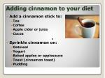 adding cinnamon to your diet