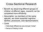 cross sectional research