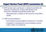 expert review panel erp mechanism 2