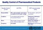 quality control of pharmaceutical products