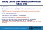 quality control of pharmaceutical products website links