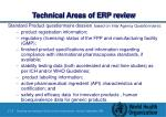 technical areas of erp review