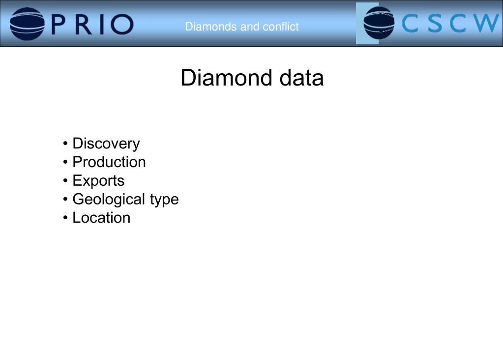 Diamond data